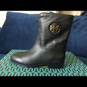 Authentic Brand New Black Hallie Tory Burch boots